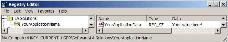 Application Settings in the Windows Registry