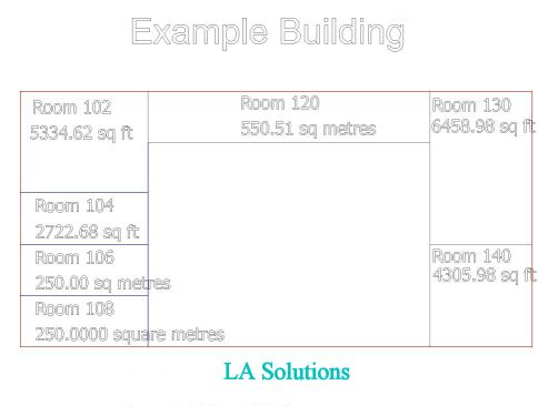 Example Floor Plan with Area Annotation
